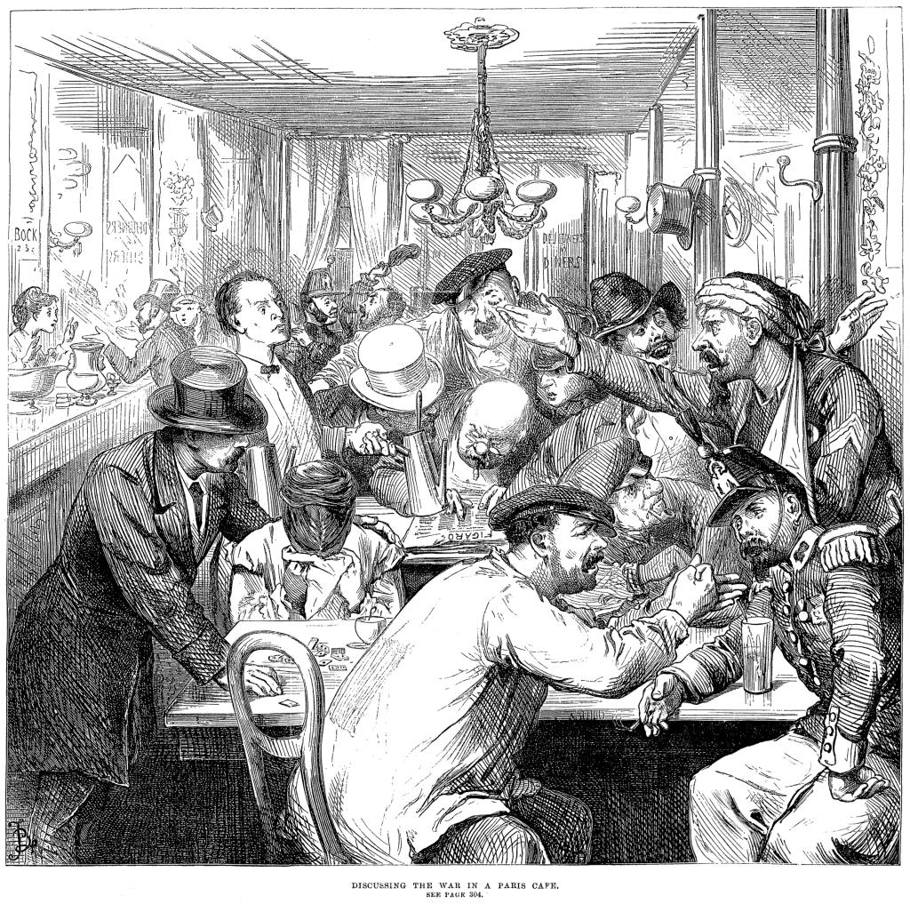 Paris café after the defeat at Sedan