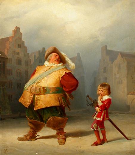 Adolf Schrödter (1805-1875): Falstaff and his Page