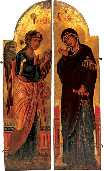 Annunciation (The Holy_Doors) from Saint Catherine's Monastery, Mount Sinai