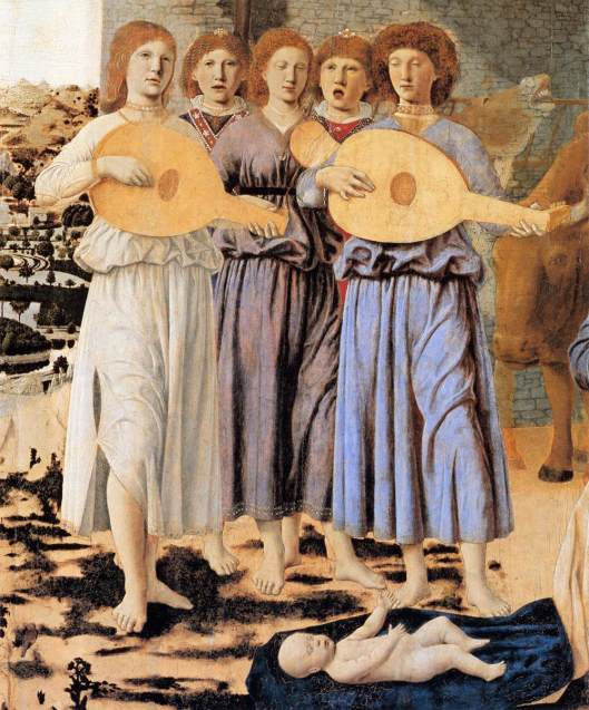 Piero della Francesca Nativity (detail)
