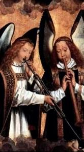 Angel musicians: Hans Memling (1430-94)